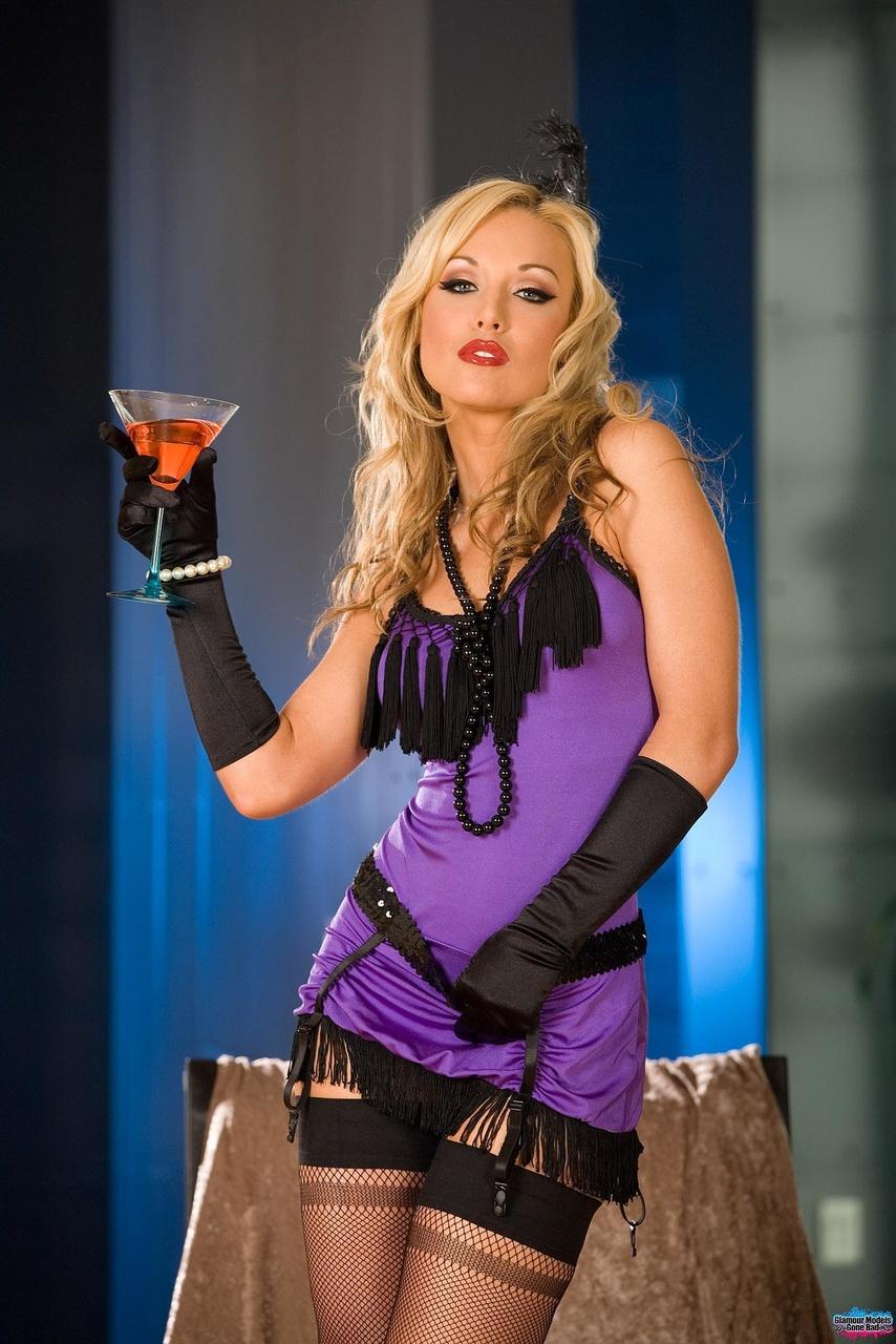 Kayden Kross - Babe In Her Black Stockings - Glamour