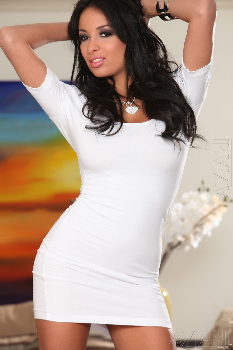 Porn Star Tight - Anissa Kate French Brunette Pornstar Loses Tight White Dress ...
