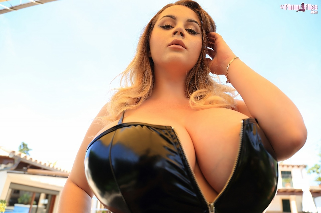 Holly Garner Curvy Blonde Pinup With Huge Boobs - Pinup -4401