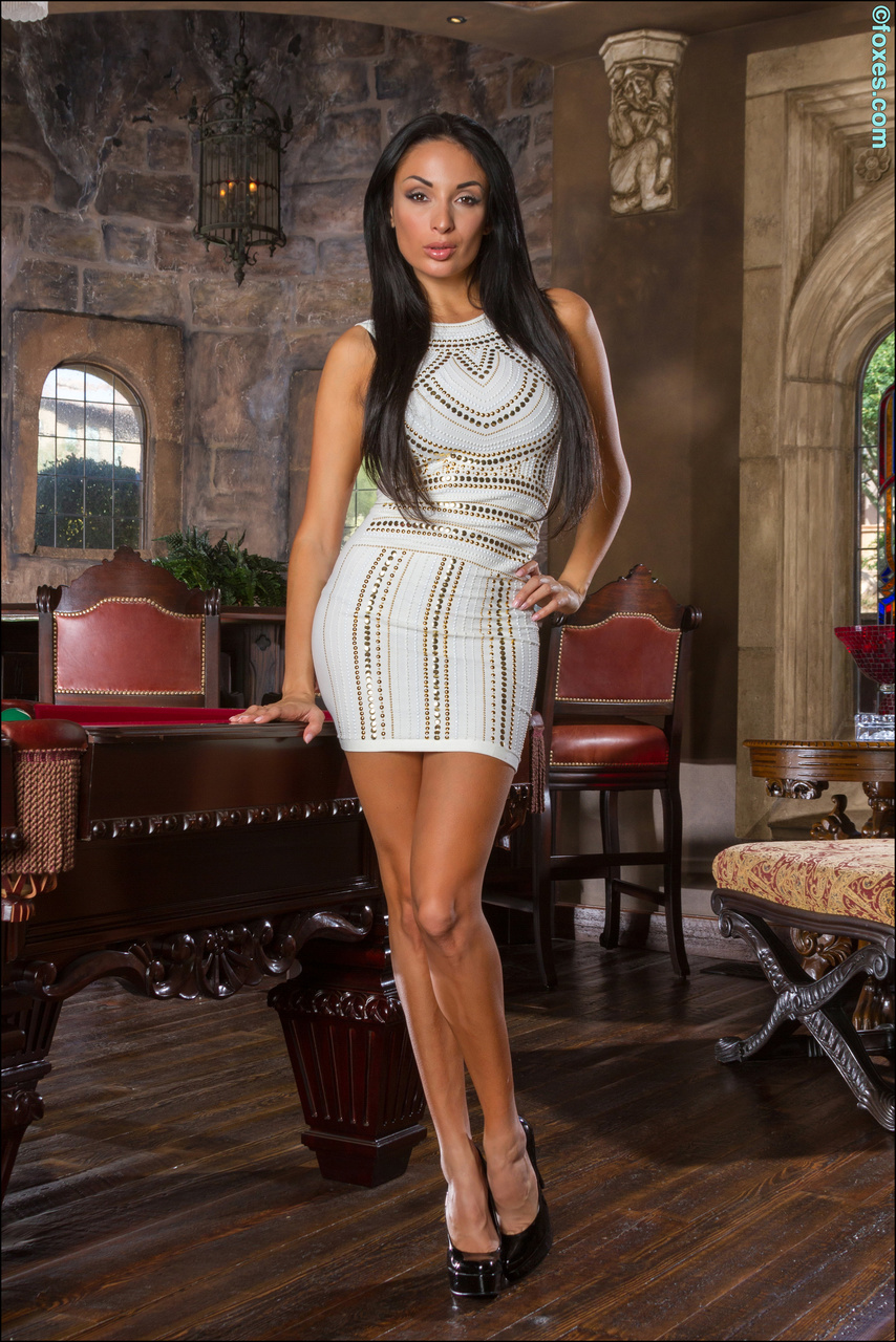 Anissa Kate Busty French Milf in Tight White Dress - Foxes Pictures Gallery